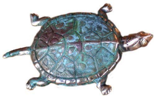 Verdigris Patina Solid Brass Box Turtle Pin Elaine Coyne. $22.00. Pin  Measures 1.5 Inch