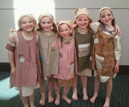 The cutest Orphans in town!. Little Orphan Annie Costume, Annie Orphan dress.