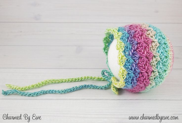 Sweet Like Candy Bonnet -free crochet pattern-