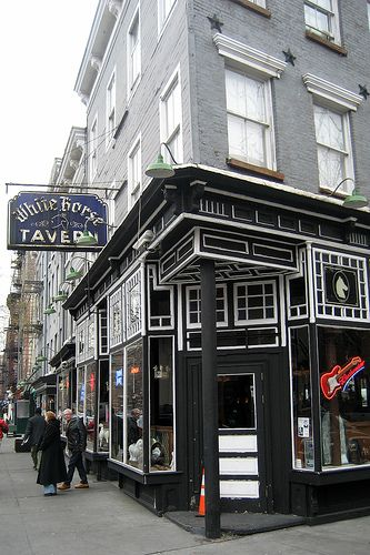 White Horse Tavern, est. 1880, Hudson at West 11th Street in the West Village. Popular with the Beats, then the Folk Music set of the '60s, it's where Dylan Thomas drank himself to death.