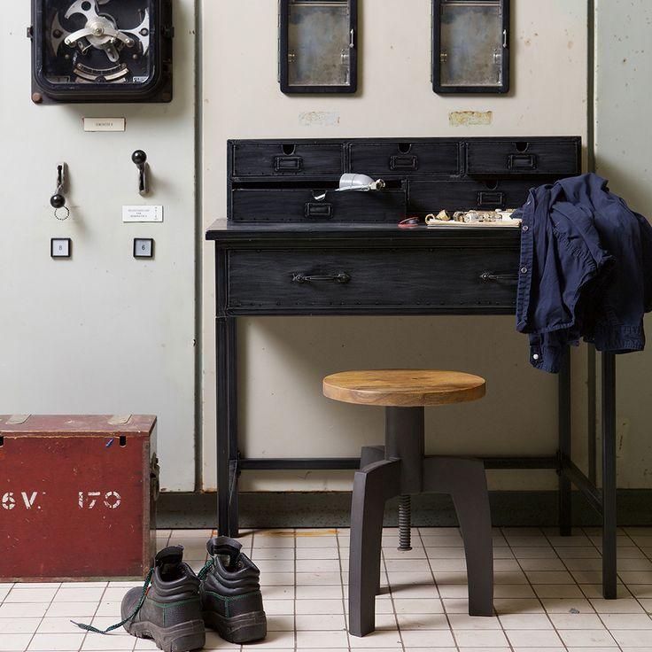 Schreibtisch vintage schwarz  Pinterest'teki 25'den fazla en iyi Schreibtisch schwarz fikri ...