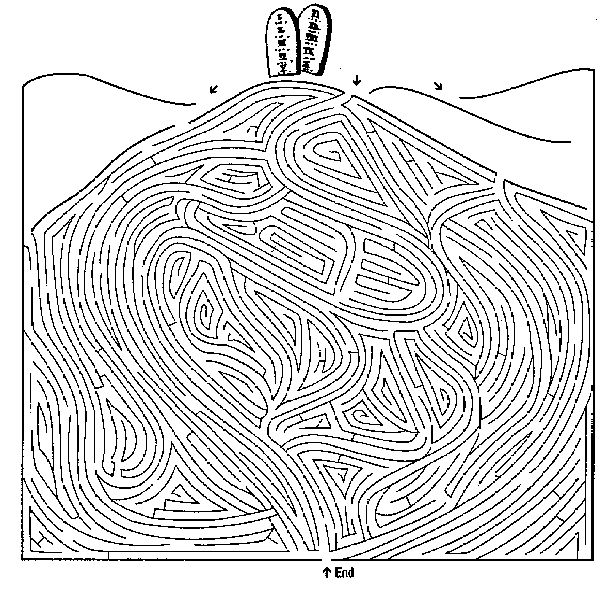 97 best images about mazes hidden pictures find the for Keep the commandments coloring page