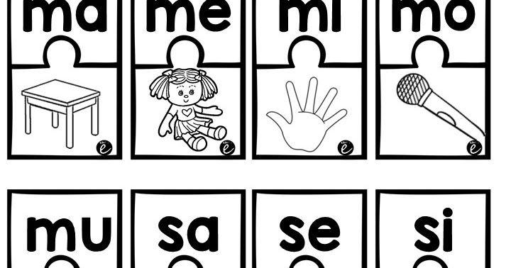Conciencia Fonologica Relacion De Silabas Ejercicios De Silabas