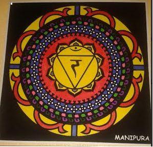 Mandala manipura 3º chakra. Significado: la capacidad de actuar con energía, voluntad, autoestima y autonomía personal. En el sentido espiritual es la esencia hemos estado dotados.
