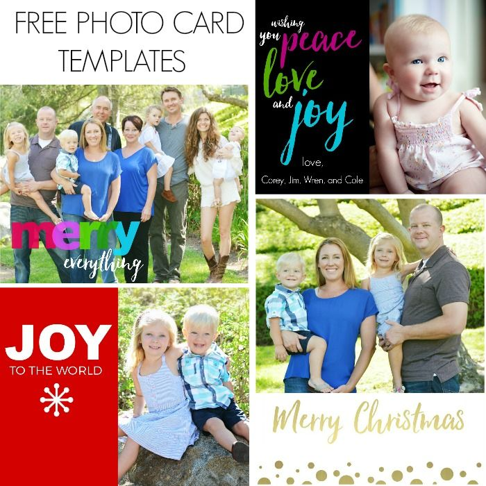 Free Photo Card Templates | Photo cards can get pricey, especially if you send out a lot of cards, so I like to create my own image and upload it to Costco where you can get 50 cards for $15! NOV 2015