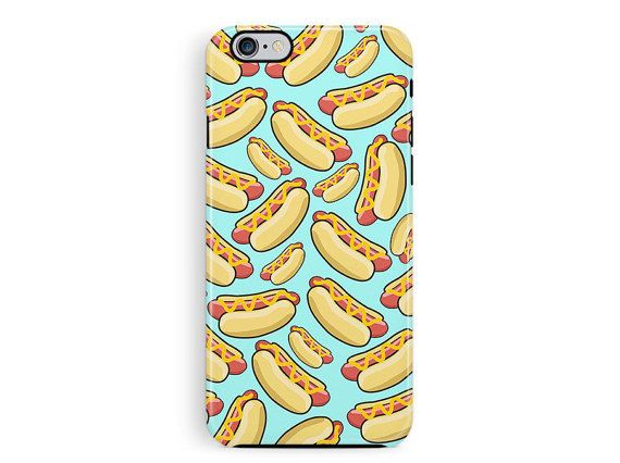 Tough iphone case, Protective iPhone 6 Case, Hot Dog iPhone 5 Case, Protective cover, Pizza phone case, bumper iphone case, Protective case