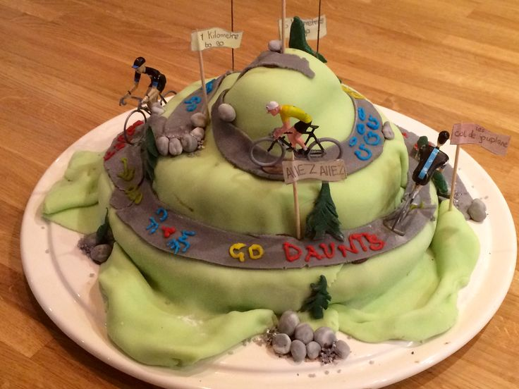 Col de Joux Plane - a piece of cake?! Birthday Cake for all cycling fans.