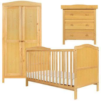 349 Cambridge Cotbed Wardrobe And Drawer Dresser Furniture Set In Natural Babies R