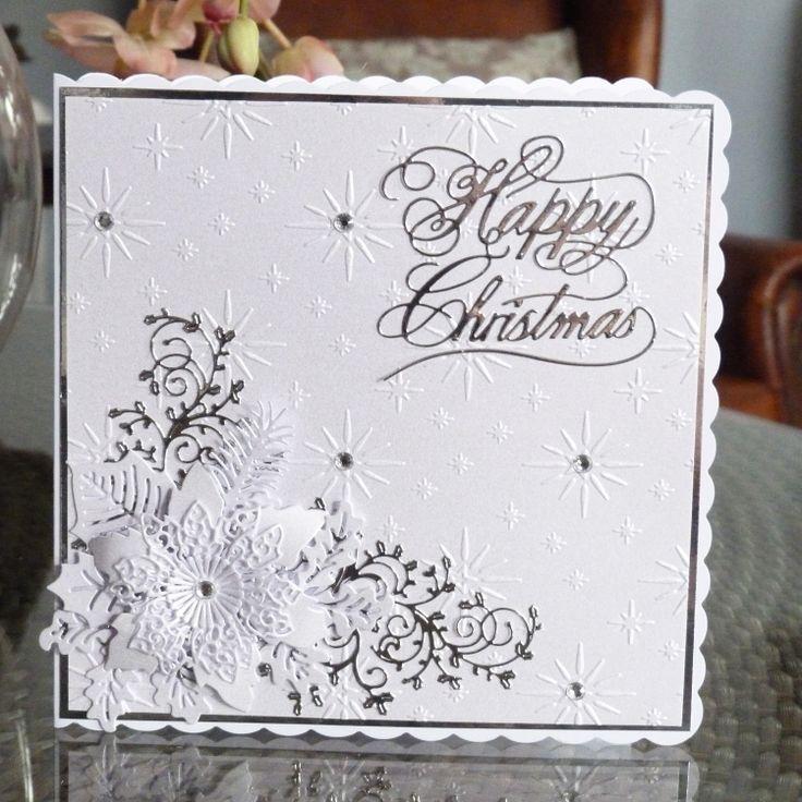 Happy Christmas (D446), Lavish Poinsettia (D452), Holly Flourish (D409) www.tatteredlace.co.uk