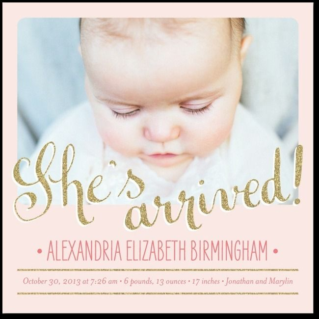 Birth Announcement Quotes Endearing 16 Best Baby Girl Announcementinvites Images On Pinterest  Baptism