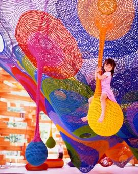 Toshiko Horiuchi MacAdam crochet play structure in Japan
