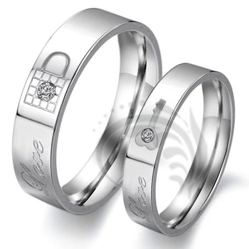 unique 14k white gold his and her matching wedding rings 012 ct 40 mm 60 - Unique Wedding Ring Sets For Him And Her