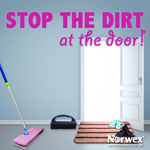 Did you know that 85% of contaminants are brought into the home in the first 4 steps! Try the Norwex Entry Mat featuring super-thirsty microfiber and stiff polypropylene bristles so dirt and other pollutants get trapped in the mat instead of being tracked into your home. Use the Norwex Rubber Brush to keep it looking fresh between washings. For floors, try the new Double-Sided Mop System, one mop does it all! It swivels and flips for double cleaning duty. Saves you time and storage space.