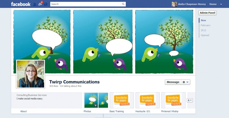 Facebook Timeline for Business Pages -- Embrace It!  On the Twirp Communications blog www.twirp.ca/blog