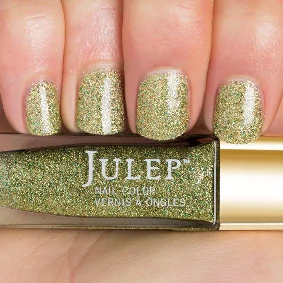 Thumbnail Swatch of Peridot Birthstone Multidimensional Glitter Top Coat Nail Polish