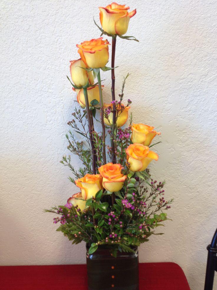 fresh take on a dozen roses