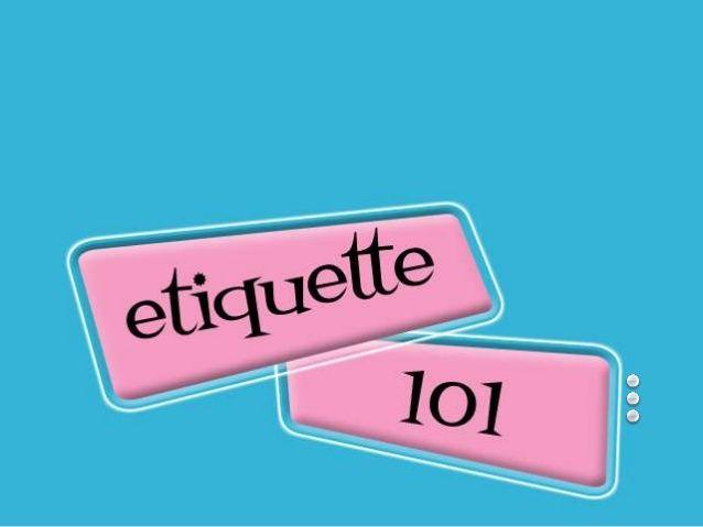 Etiquette Dinner Quiz