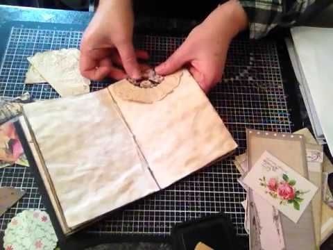 Art journal inspiration - Original pinner sez: How I make my vintage journals part 1 - YouTube