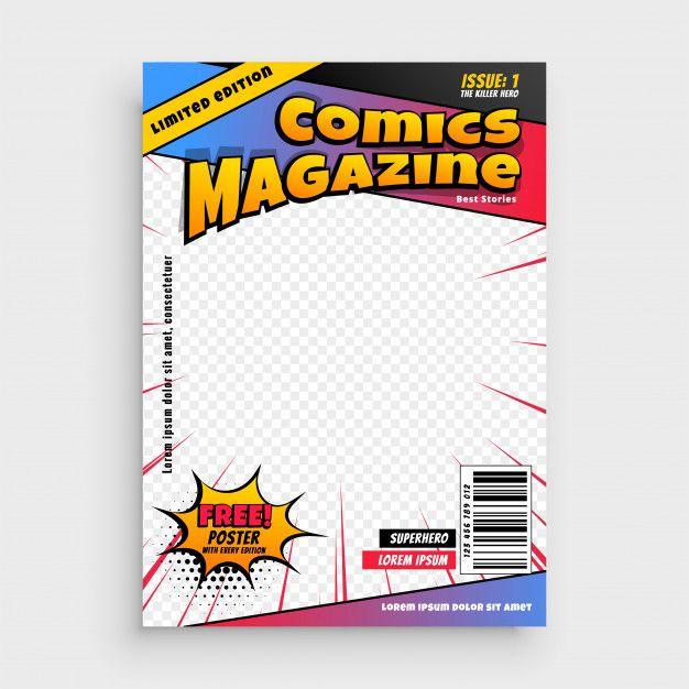 Download Comic Magazine Book Cover Template For Free Book Cover Template Cover Template Book Cover