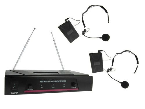 Pack 2 Microfonos Inalambricos Diadema con petaca y receptor