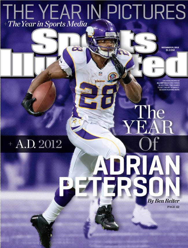 "Peterson On ""Sports Illustrated"" Cover For Fifth Time This Week"