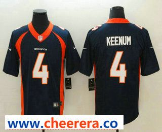 Men s Denver Broncos  4 Case Keenum Navy Blue 2018 Vapor Untouchable  Stitched NFL Nike Limited Jersey 39e08a189