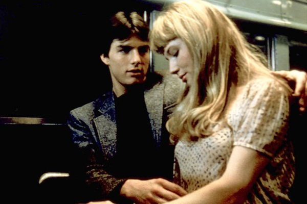 "Sexiest Movies of All Time - Most Sexy Movies...""Risky Business""...Phil Collins' ""In the Air Tonight"" is playing.  There is aggressive thigh caressing, Tom Cruise puts his hand up Rebecca DeMornay's skirt, and they're on an empty train the whole time.  Trust us, it works."
