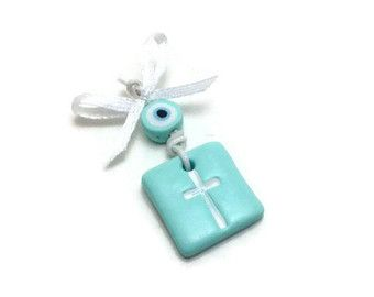 Baptism Favors Cross Charms Witness Pins Baby by JosCreationsGR