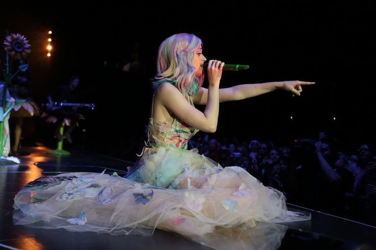 Pictures of Katy Perry's boldest wigs on her Prismatic tour so far.