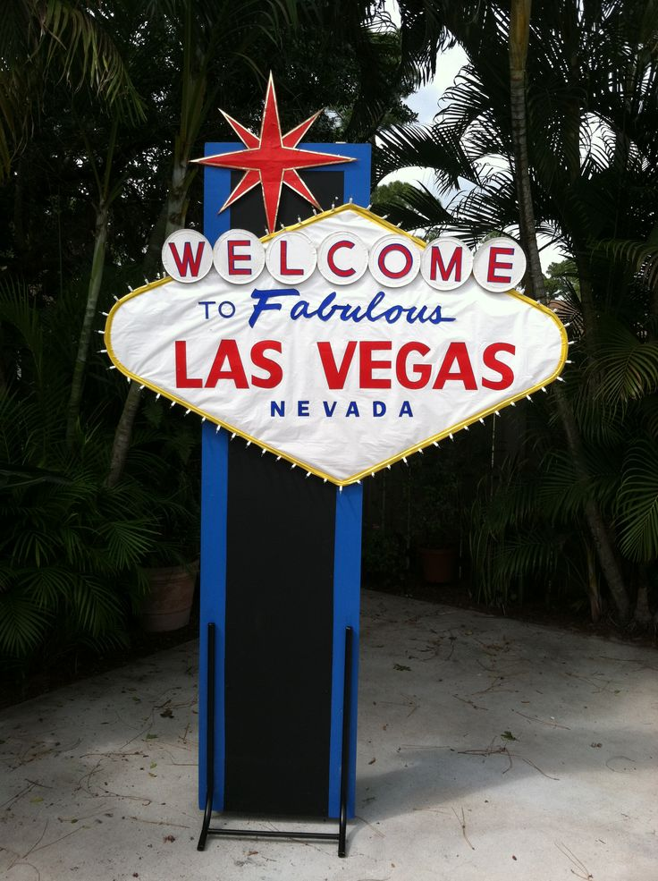 Las Vegas themed party sign.  8 ft Tall x 6 ft Wide