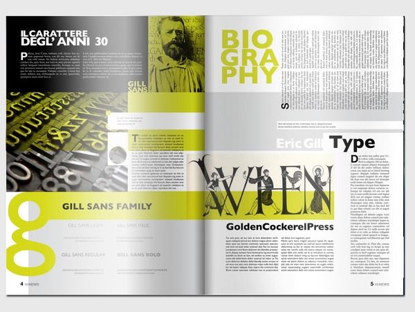 editorial design by matteo cianfarani via behance magazine spreadsyearbook ideaspublication - Publication Design Ideas
