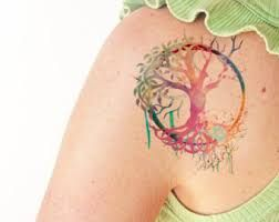 Image result for watercolor tree of life tattoo
