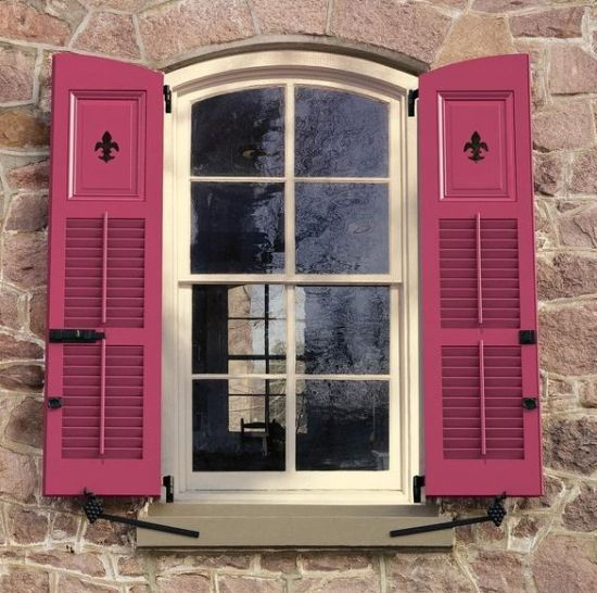 22 best exterior shutters images on pinterest french - Decorative window shutters exterior ...