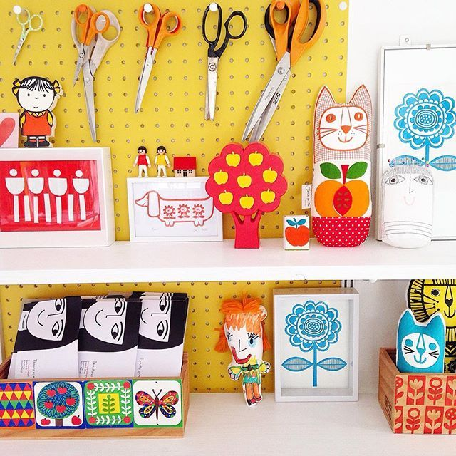 Studio shelfie #onmywall #janefosterstudio pegboards from @blockdesign