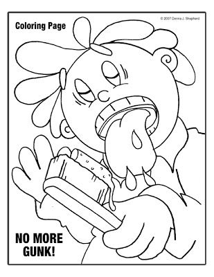 20 best donna 39 s activity sheets for kids and kids at heart for Dental health month coloring pages