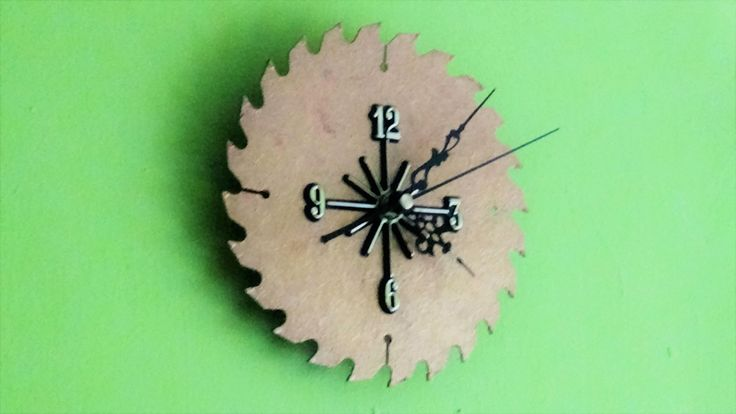 Rare,Modern,Saw Blade Clock,small hands,arabic numerals,woodworkers unique wall clock,gift for her,gift for him,bronze, gold colour by TheArtWorkShop37 on Etsy