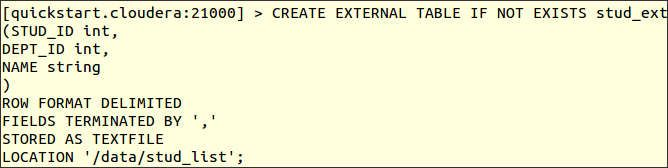 Impala Create External Table and Examples | BigData:Hadoop
