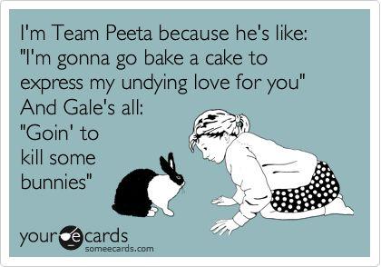 Gale is lameThe Hunger Games Cake, Team Gale, Team Peeta, Stuff, Peeta Please, I M Team, Someecards, So True, So Funny