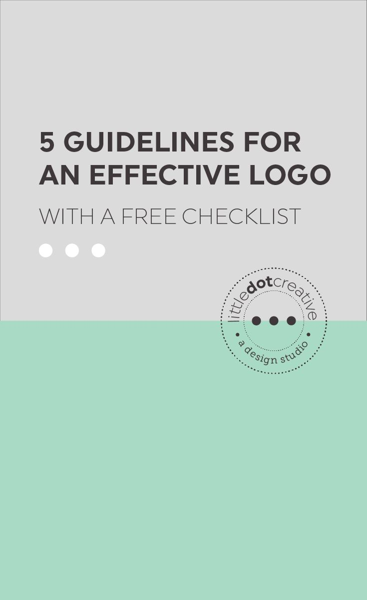 5 guidelines of an effective logo | On www.littledotcreative.com/blog