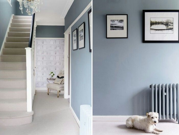 Hallway - Farrow & Ball Oval Room Blue