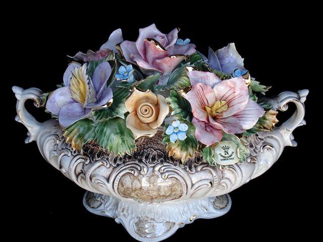 Best capodimonte flower centerpiece images on pinterest