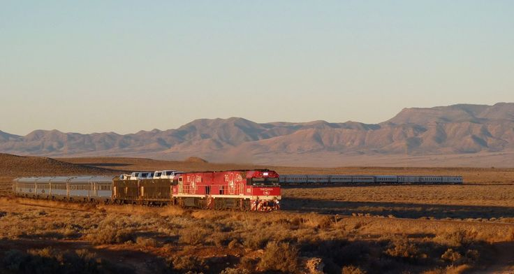 The Ghan on its journey from South Australia to Darwin. The longest train for ten years.  22/5/2016. Look how long it is. 1096 meters.