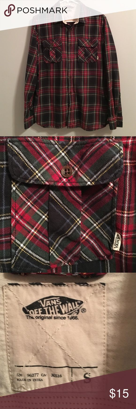 Vans flannel Flannel button down Vans Shirts Casual Button Down Shirts