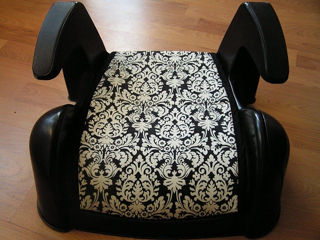 Booster seat cover tutorial. I am so excited to have Abs change to one of these.