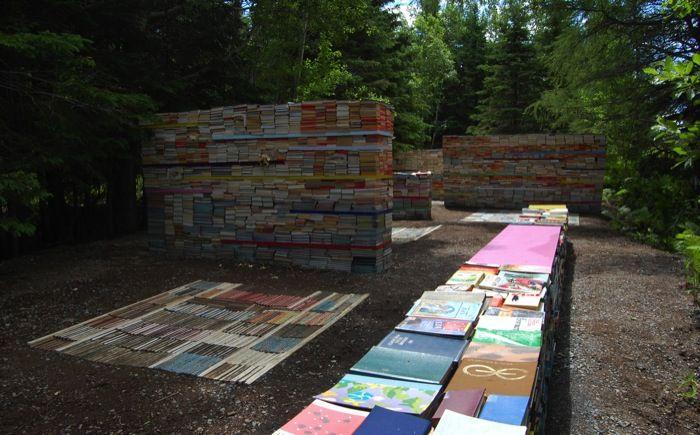 caminho do paraíso: uma biblioteca no coração da floresta. projeto dos arquitetos Thilo Folkerts e Latourelle Rodney. 11 º Festival Internacional de Jardins de Métis, Quebec, Canadá .jconnaissance_3719mctf_gal700px