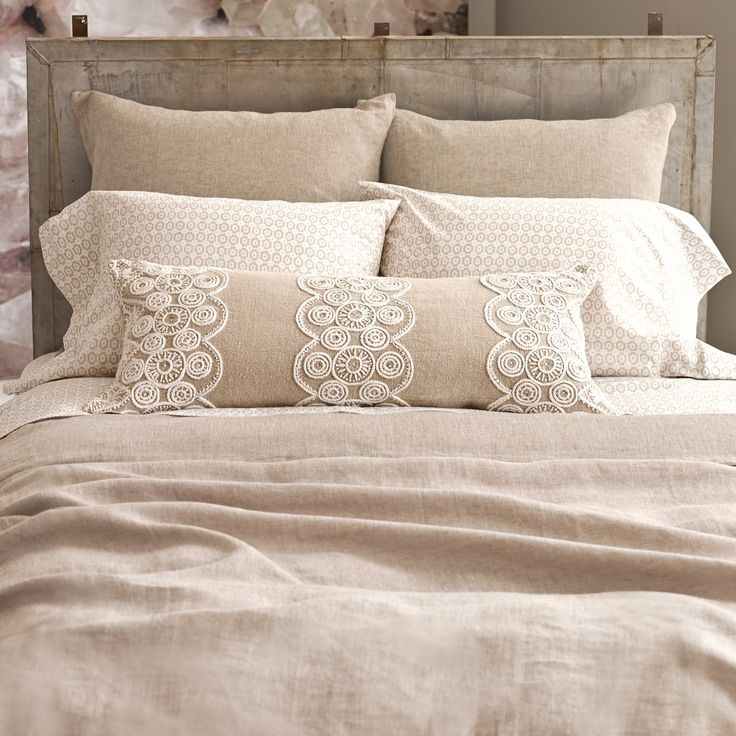 Pine Cone Hill Esha Sheet Set #laylagrayce   LOVE this neutral and rustic bedding look