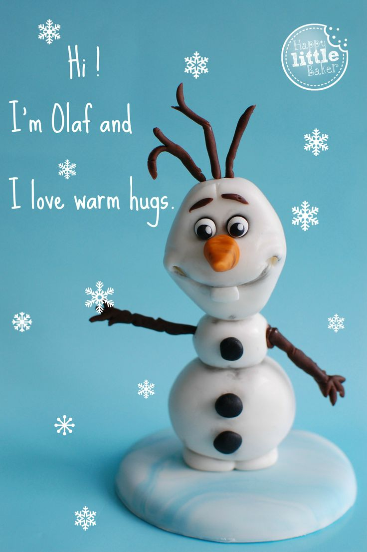 How to make Frozen's Olaf from fondant / gumpaste.  YouTube video tutorial by the Happy Little Baker.
