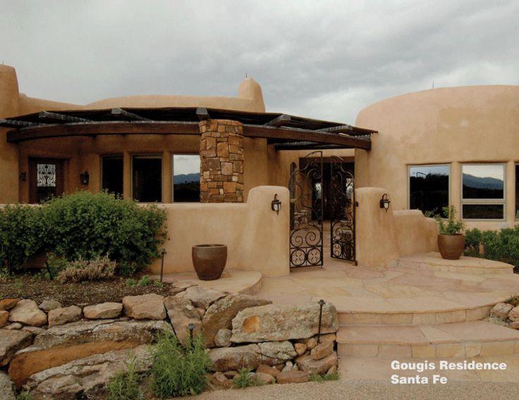298 best adobe houses images on pinterest for Santa fe home design