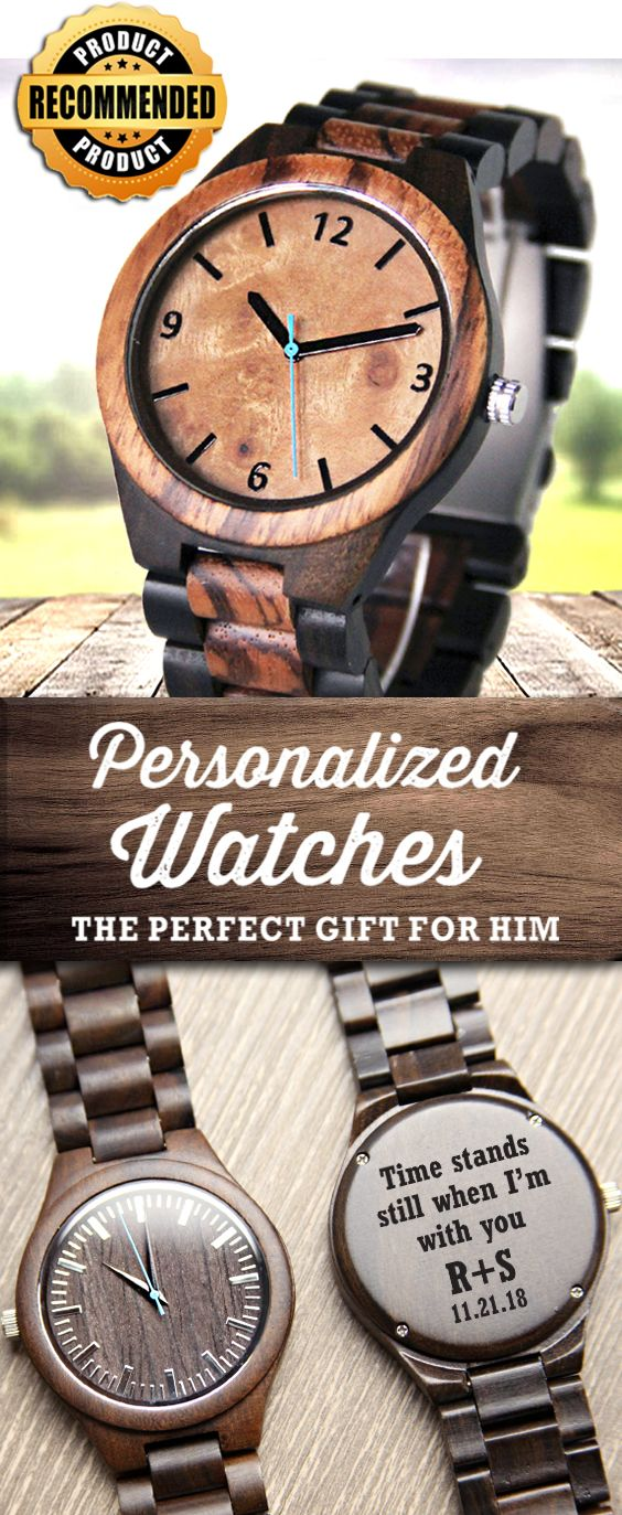 Engraved Wood Watches. Personalize yours today! Voted #1 Gift for him.