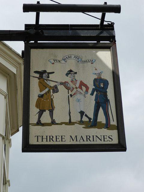 'Three Marines' Pub Sign - Portsmouth